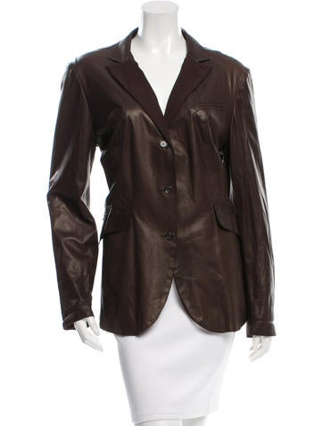 Brunello Cucinelli Silk-Trimmed Leather Jacket None