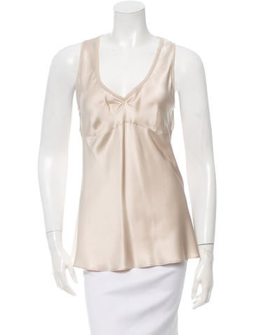 Brunello Cucinelli Silk Embellished Top None