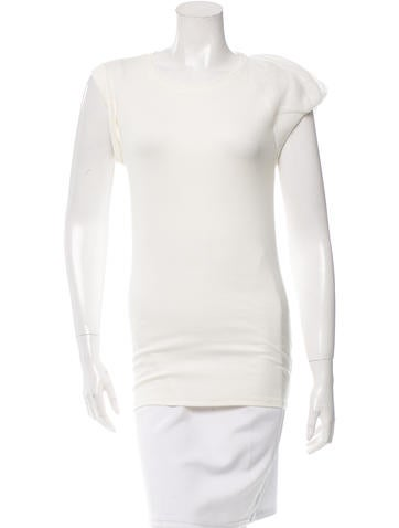 Brunello Cucinelli Draped Rib Knit Top None