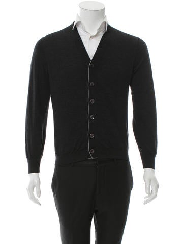 Brunello Cucinelli Rib Knit Trimmed Wool Cardigan None
