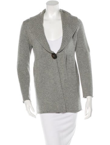 Brunello Cucinelli Cashmere Shawl Collar Cardigan None