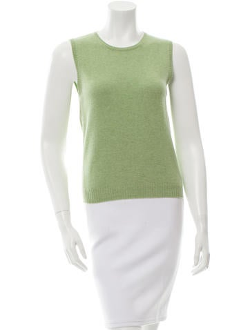 Brunello Cucinelli Cashmere Sleeveless Top None