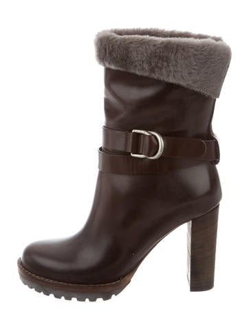 Leather Round-Toe Ankle Boots w/ Tags