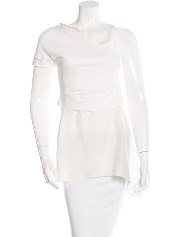Brunello Cucinelli Asymmetrical Silk Top None