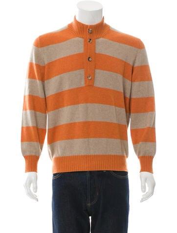 Brunello Cucinelli Cashmere Striped Sweater None