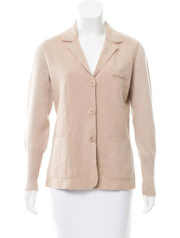 Brunello Cucinelli Cashmere Rib Knit Jacket None