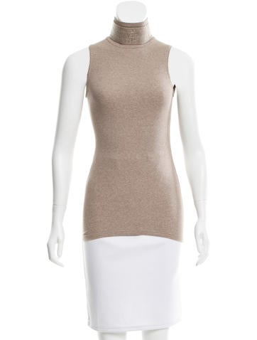 Brunello Cucinelli Monili-Trimmed Cashmere Top None