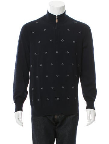 Brunello Cucinelli Cashmere Half-Zip Sweater None