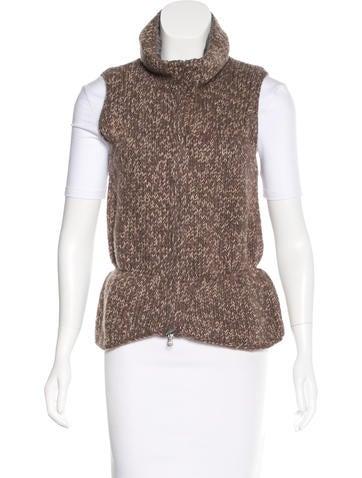 Brunello Cucinelli Cashmere Rib Knit Vest None