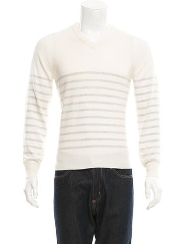 Brunello Cucinelli Cashmere Striped Sweater None