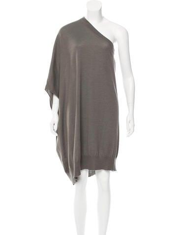 Brunello Cucinelli One-Shoulder Cashmere Dress None