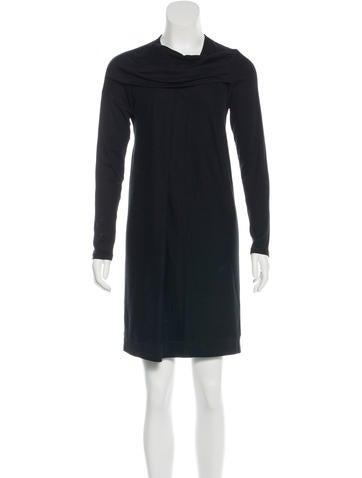 Brunello Cucinelli Draped Sweatshirt Dress None