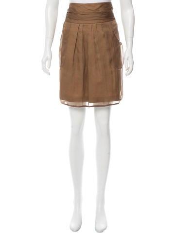 Brunello Cucinelli Silk Overlay Skirt None