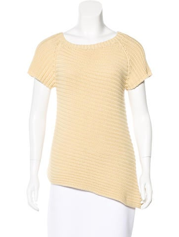 Brunello Cucinelli Asymmetrical Short Sleeve Sweater None