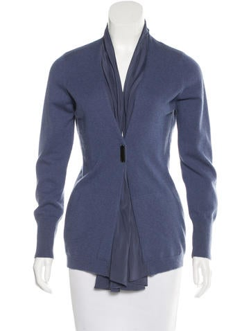 Brunello Cucinelli Silk-Accented Cashmere Cardigan None