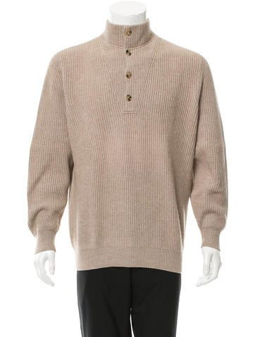 Brunello Cucinelli Wool Rib Knit-Trimmed Sweater None