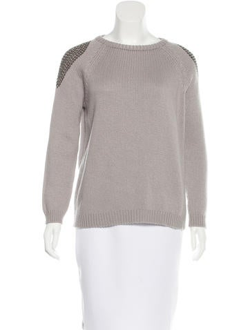 Brunello Cucinelli Crystal Embellished Cashmere Sweater None
