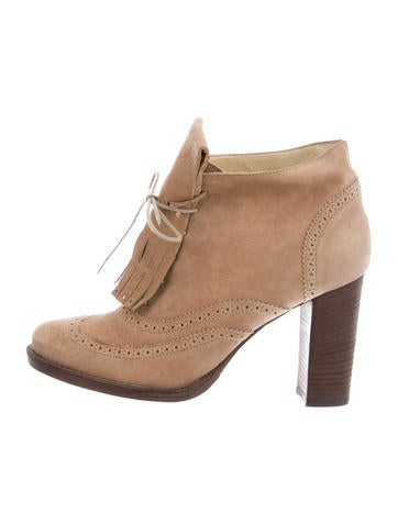 Brunello Cucinelli Kiltie-Accented Lace-Up Ankle Boots