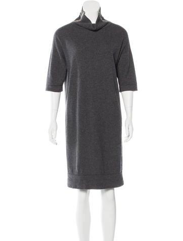 Brunello Cucinelli Cashmere Monili-Trimmed Dress None