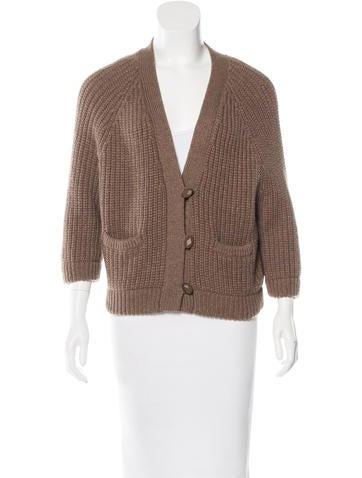 Brunello Cucinelli Rib-Knit Button-Up Cardigan None