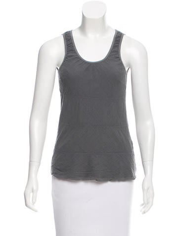 Brunello Cucinelli Silk-Accented Sleeveless Top None