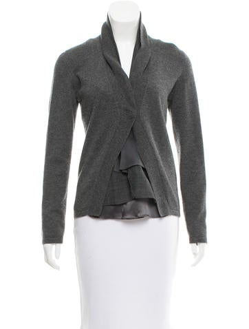 Brunello Cucinelli Silk-Paneled Cashmere Cardigan None