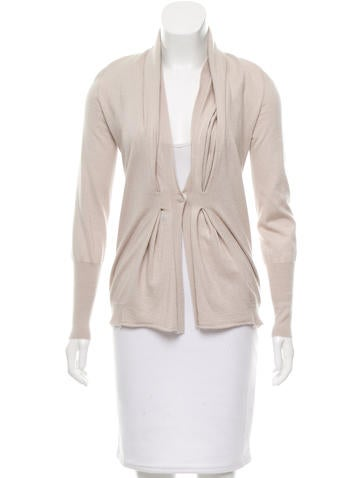 Brunello Cucinelli Pleated Cashmere Cardigan None