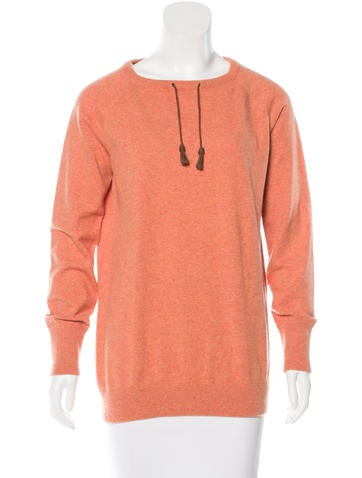 Brunello Cucinelli Leather-Accented Cashmere Sweater None
