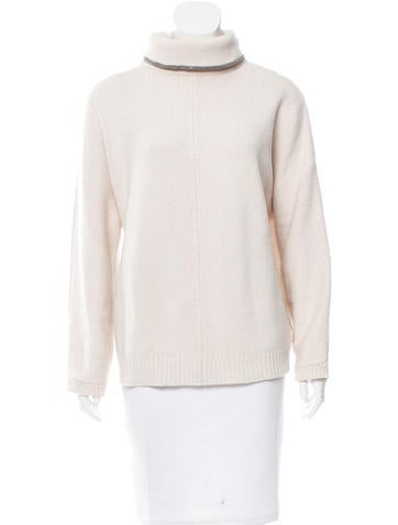 Brunello Cucinelli Monili Wool-Blend Sweater None