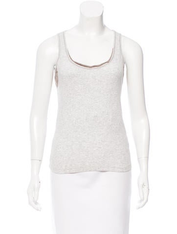 Brunello Cucinelli Scoop Neck Rib Knit Top None