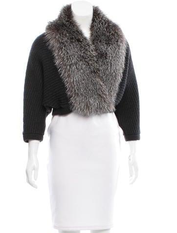 Brunello Cucinelli Fox-Fur Trimmed Cashmere Sweater None