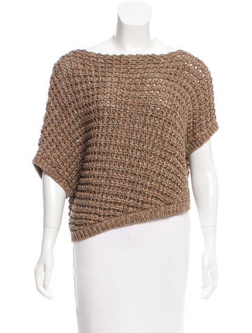 Brunello Cucinelli Rib Knit Cropped Sweater w/ Tags None