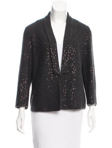 Brunello Cucinelli Sequined Cashmere Jacket w/ Tags None