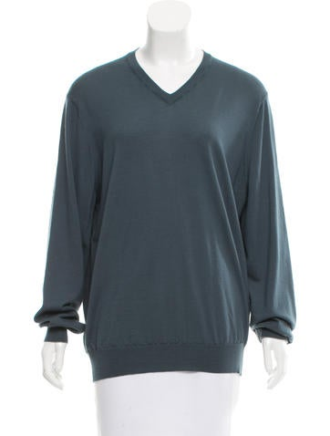 Brunello Cucinelli V-Neck Wool Sweater None