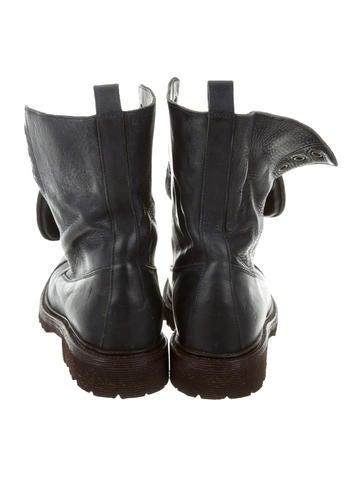Monili-Embellished Combat Boots