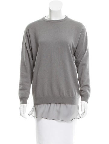 Brunello Cucinelli Cashmere Layered Sweater w/ Tags None