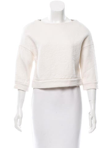 Brunello Cucinelli Monili-Trimmed Virgin Wool Top None
