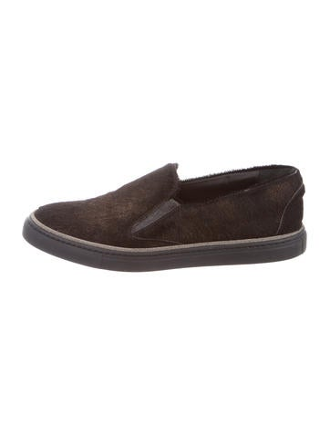 Brunello Cucinelli Ponyhair Slip-On Sneakers