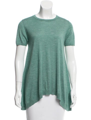 Brunello Cucinelli Short Sleeve Cashmere Top None