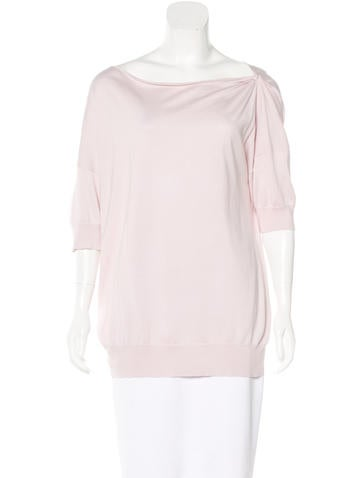 Brunello Cucinelli Short Sleeve Knit Top None