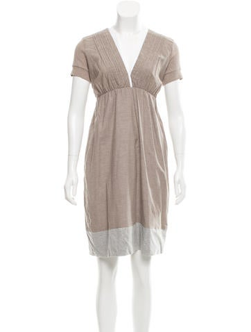 Brunello Cucinelli Belted A-Line Dress w/ Tags None