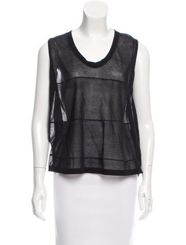 Brunello Cucinelli Sheer Sleeveless Top w/ Tags None