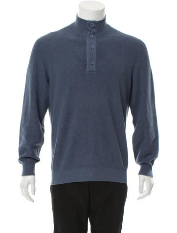 Brunello Cucinelli Rib Knit Half-Button Sweater None