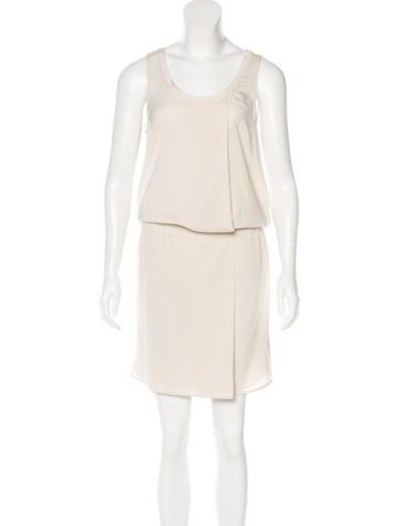 Brunello Cucinelli Monili-Trimmed Silk Dress None