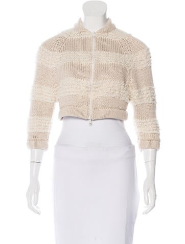Brunello Cucinelli Knit Cropped Jacket w/ Tags None