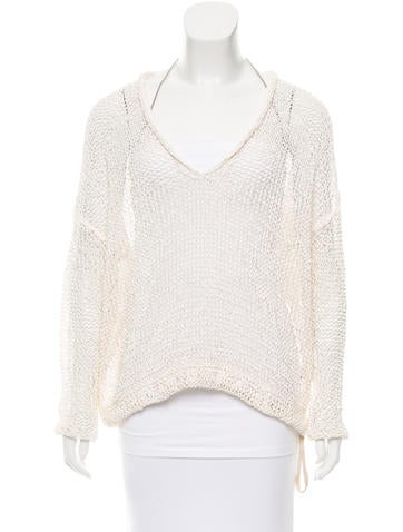 Brunello Cucinelli Monili-Trimmed Open Knit Sweater None