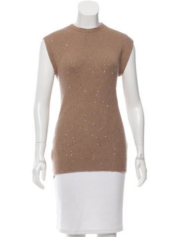 Brunello Cucinelli Sequin-Embellished Cashmere Sweater None