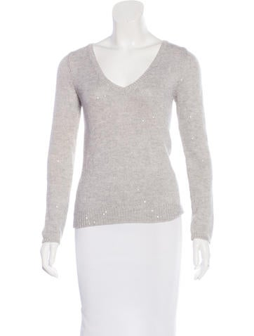 Brunello Cucinelli Embellished Cashmere Sweater None