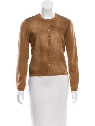 Brunello Cucinelli Leather-Accented Cashmere Cardigan None