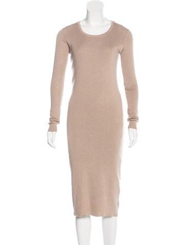 Brunello Cucinelli Metallic Cashmere Dress None